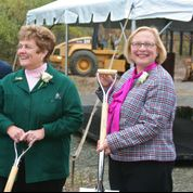 Rep. Boukus and Senator Gerratana at 2012 groundbreaking for the Hospital of Central Connecticut's Center on the New Britain/Plainville line