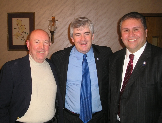 From left Registrar of Voters Juan Verdu, Mayor Tim O'Brien and State Rep. Bobby Sanchez (25) at the MLK breakfast.