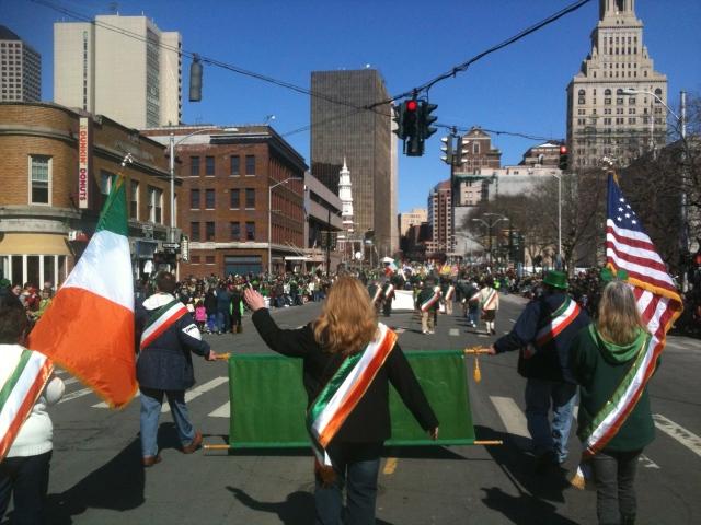 New Britain marchers on Main Street, Hartford