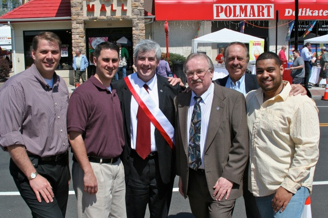 From left: Council Pres. Mike Trueworthy, Ald, David DeFronzo, Mayor Tim O'Brien, Ald. Adam Platosz, Ald Larry Hermanowski and Ald. Tobias Freeman.