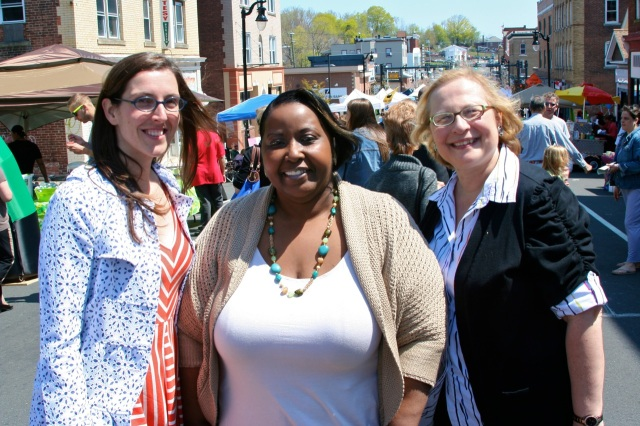 Jessica Gerratana, Council Majority Leader Suzanne Bielinski and State Senator Terry Gerratana