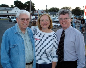 Former State Rep. Gene Millerick (left) with State Senator Terry Gerratana and former House Speaker Chris Donovan in a 2004 photo.