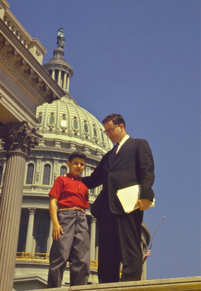 Dr. Frank Gerratana circa 1960 with Congressman Don Irwin.
