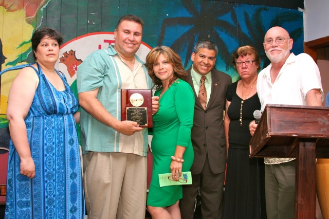 Leaders of the Latino Coalition praised Rep. Bobby Sanchez for his leadership and service to the community.  (FJG photo)