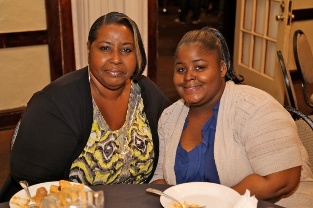 Ward 2 Ald. Tonilynn Collins and daughter Connie Collins at the D.emocratic Slate gathering