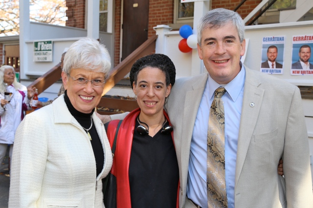 Lt. Gov. Nancy Wyman, Rhona Cohen-O'Brien and Mayor O'Brien at Saturday Rally.
