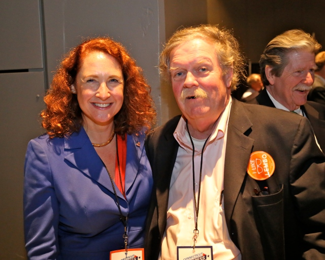 Cong. Elizabeth Esty and DTC member Tom Shields.
