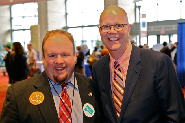 State Rep. Rick Lopes (24) and State Comptroller Kevin Lembo
