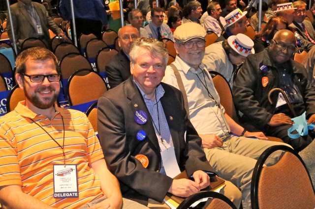 New Britain Delegates: from left Greg Gerratana, John McNamara, John Valengavich and Alton Brooks.