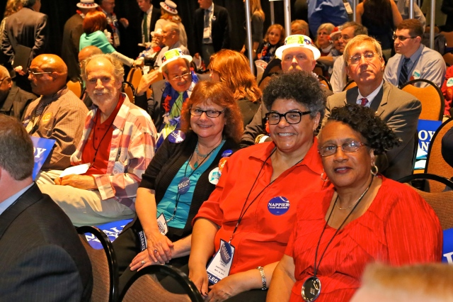 New Britain Delegates at the May state convention: From left Bill Shortell, Ann Speyer, Donna Crockett and Ald. Shirley Black.