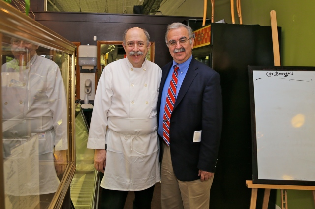 Cafe Beauregard Owner and Chef Robert Chiovoloni with Frank Gerratana.