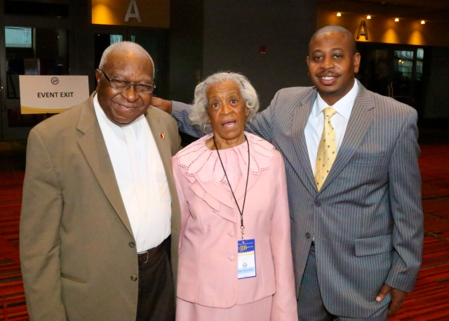 DTC Leader Alton Brooks, Emma Pierce and the Rev. Thomas Mills.