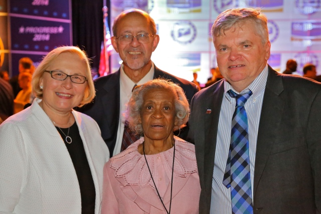 State Senator Terry Gerratana, DAS Commissioner Don DeFronzo, Emma Pierce and DTC Chair John McNamara