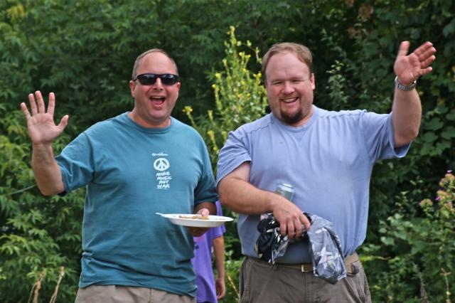 Celebrity Sighting: John Geragosian and Rep. Rick Lopes. (F Gerratana Photo)