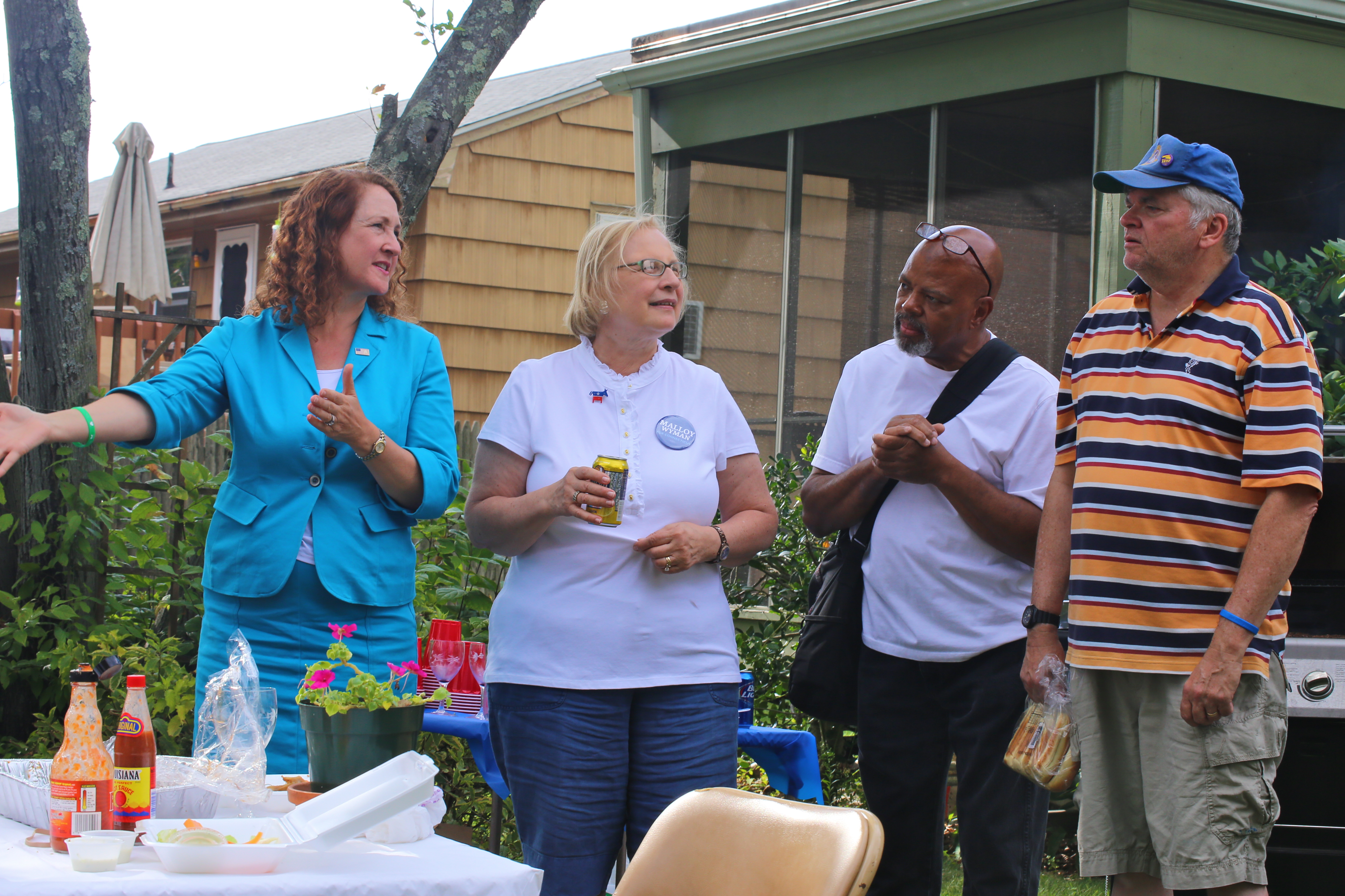 voter registration wednesday backyard bbq in pictures