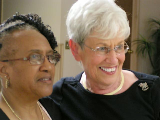 Black Democratic Club President and Alderwoman Shirley Black and Lt. Governor Nancy Wyman at Soul Food fest.