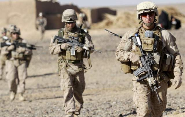 Troops levels may have been scaled back but thousands of US Marines and military are still deployed in Afghanistan. (from www.militarytimes.com)