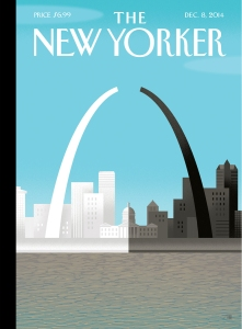 The current cover of The New Yorker magazine