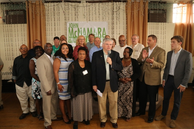 Row A Democratic Slate Members At August Kick Off (F. Gerratana photo)